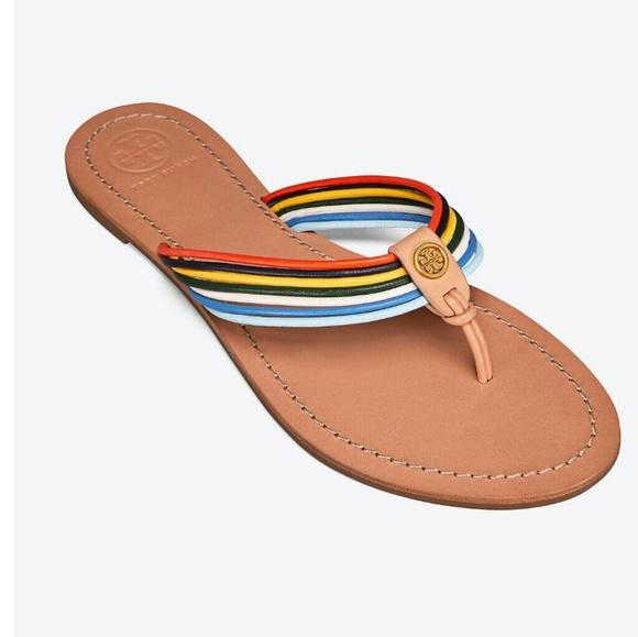 066d18d6990a New Tory Burch Sienna Flat Thong Sandal size 9.5
